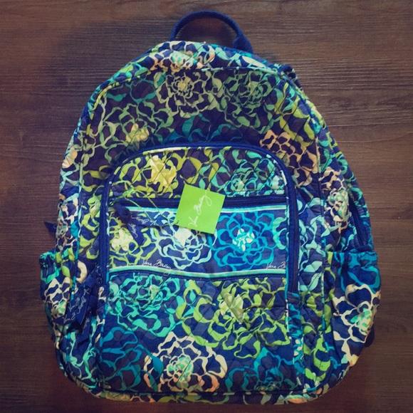 02829e81e Vera Bradley Bags | Nwt Campus Backpack In Katalina Blue | Poshmark